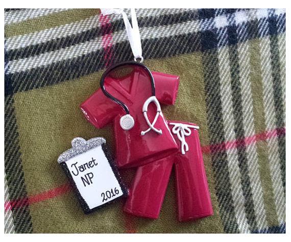 nurse ornament personalized