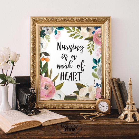nurse quote art