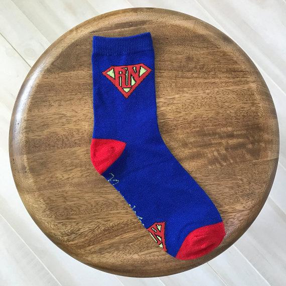 nurse socks superhero