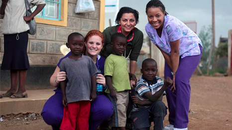 Chamberlain Global Health Education Program students in Kenya