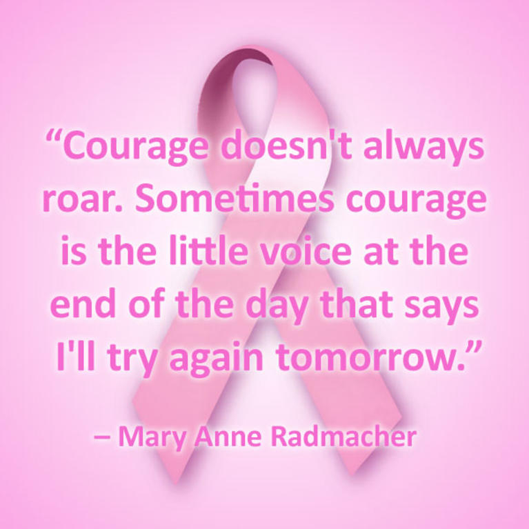 Breast Cancer Inspirational Quotes Quilt CC