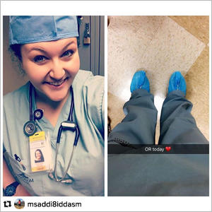 Instagram repost of a nurse at clinicals