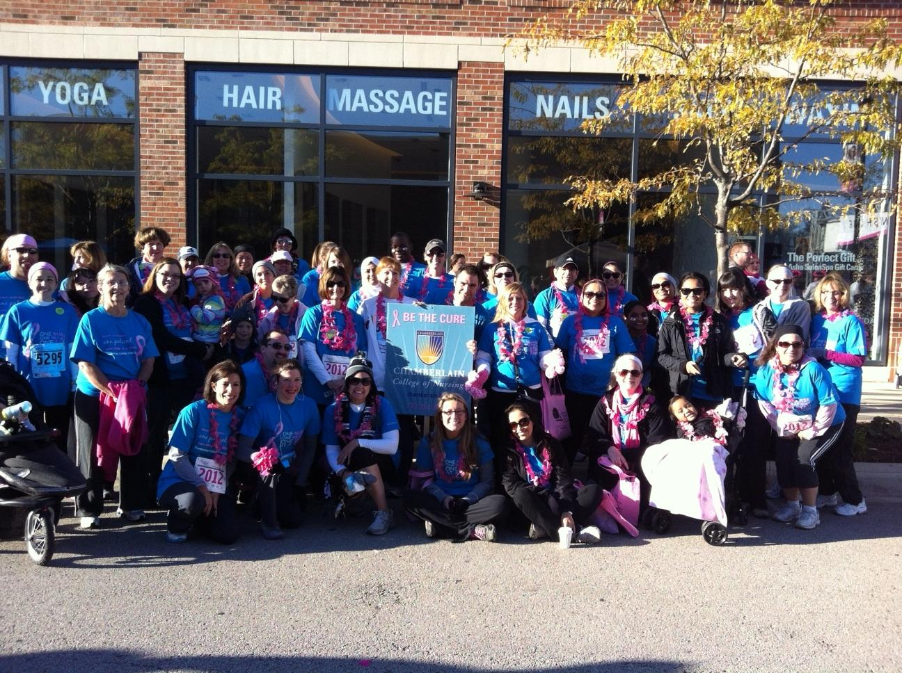 chamberlain team photo at the race for the cure