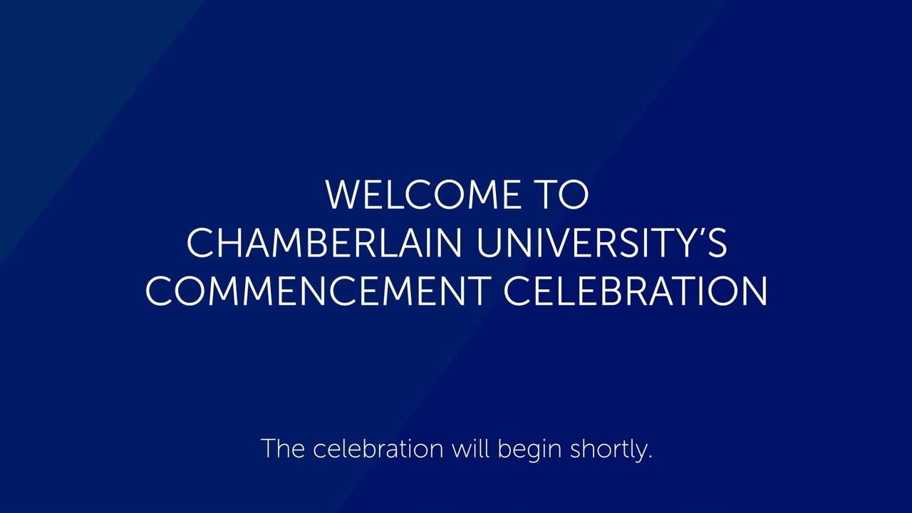 July 2020 Commencement intro screen
