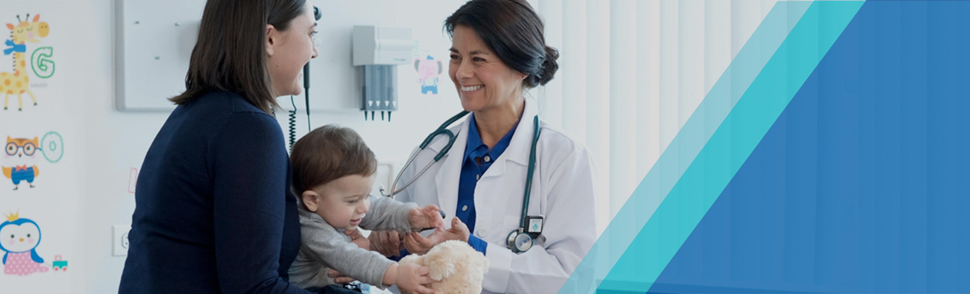 nurse with pediatric patient