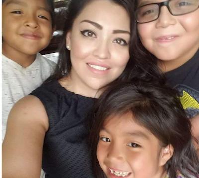 Chamberlain alumni, Rocio Sanchez with Kids