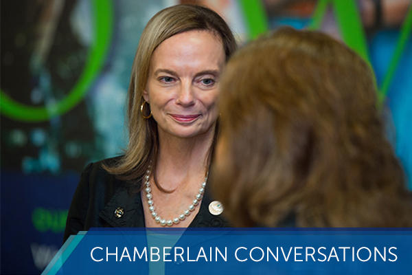 chamberlain conversations with Karen Cox, president of chamberlain university